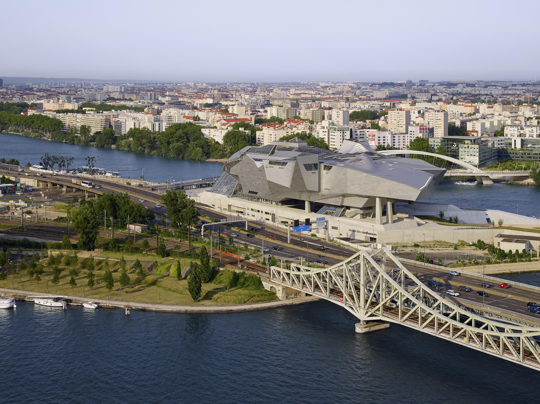 Musée des Confluences à Lyon : vue aérienne