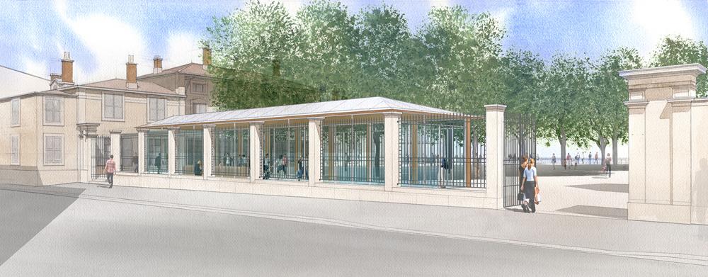 Kiosque accueil Fourvière à Lyon