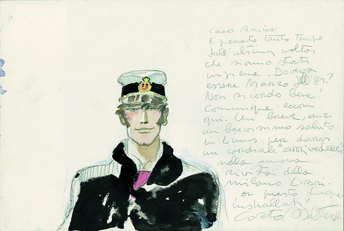 Corto Maltese – Portrait (1983) © Cong SA. Suisse. Tous droits réservés