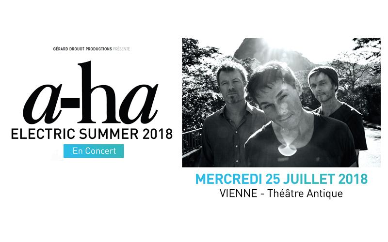 a-ha, electric summer tour, concert au Théâtre Antique de Vienne - 25 juillet 2018