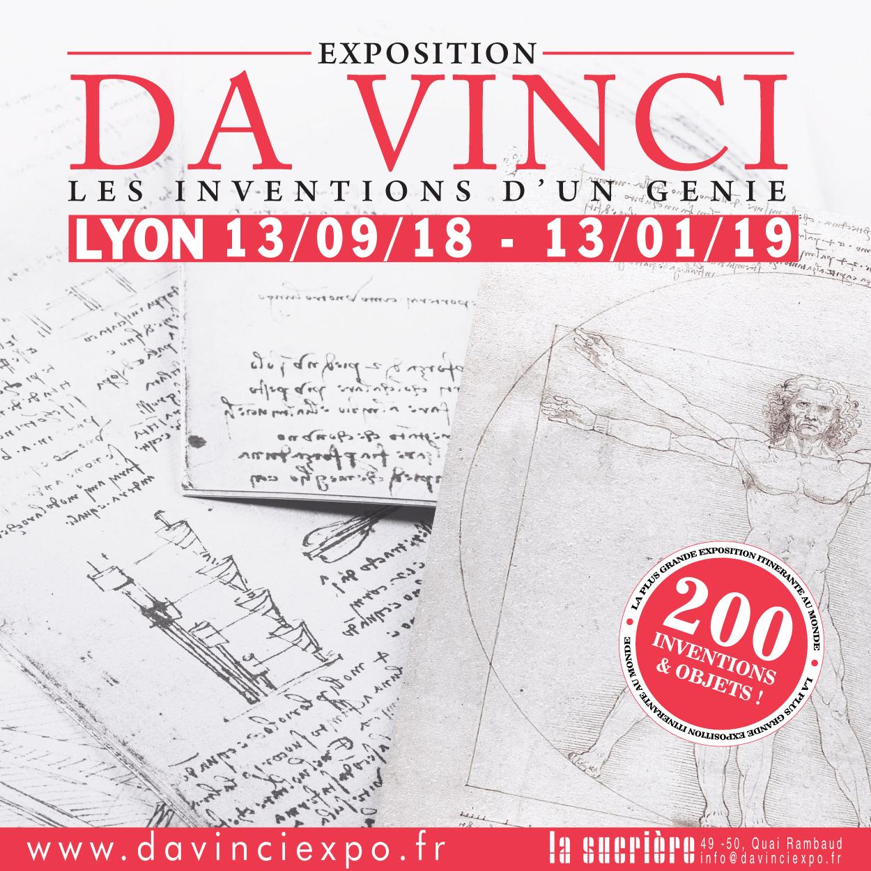 """Exposition """"Da Vinci - les inventions d'un génie"""" à La Sucrière"""