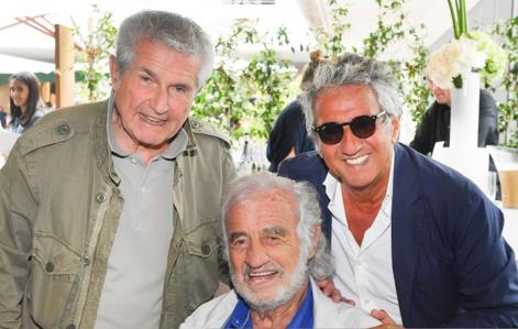 Claude Lelouch, Jean-Paul Belmondo et Richard Anconina