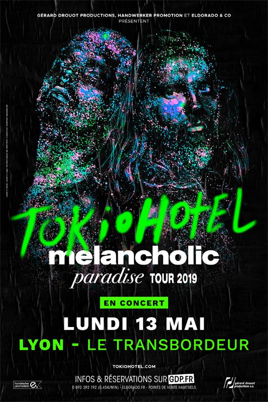 Tokio Hotel en concert le 13 mai 2019 au Transbordeur