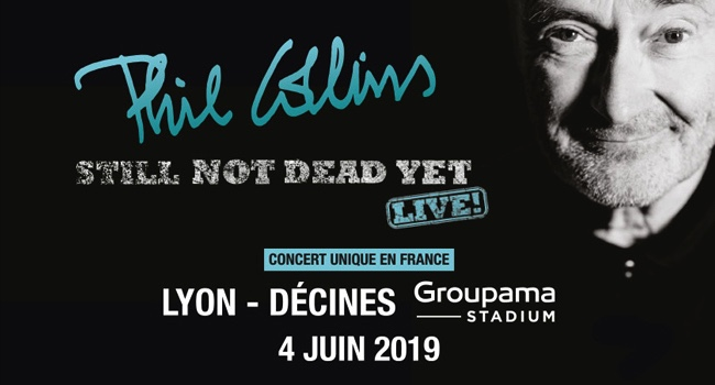 Phil Collins en concert au Groupama Stadium le 4 juin 2019