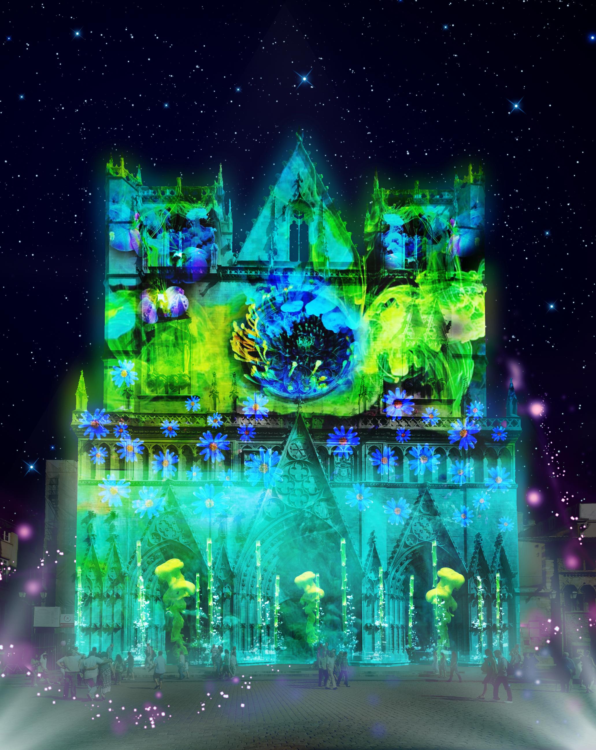 Fête des Lumières 2018 à Lyon : Cathédrale Saint-Jean