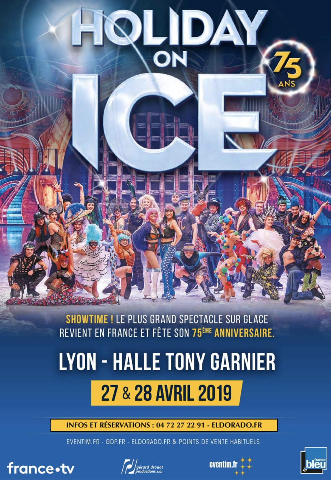 Holiday on Ice les 27 et 28 avril à la Halle Tony Garnier