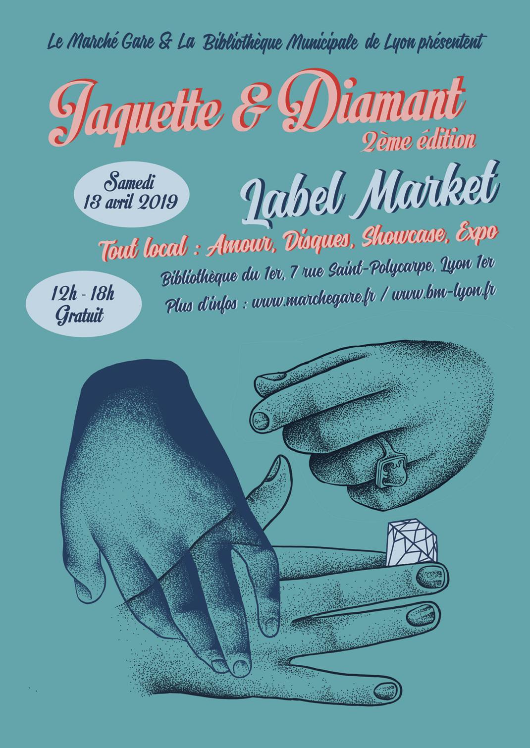 Jacquette et diamant - samedi 13 avril à la Bibliothèque du 1er