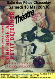 Théâtre : Une rose au petit déjeuner - salle des fêtes de Chasselay