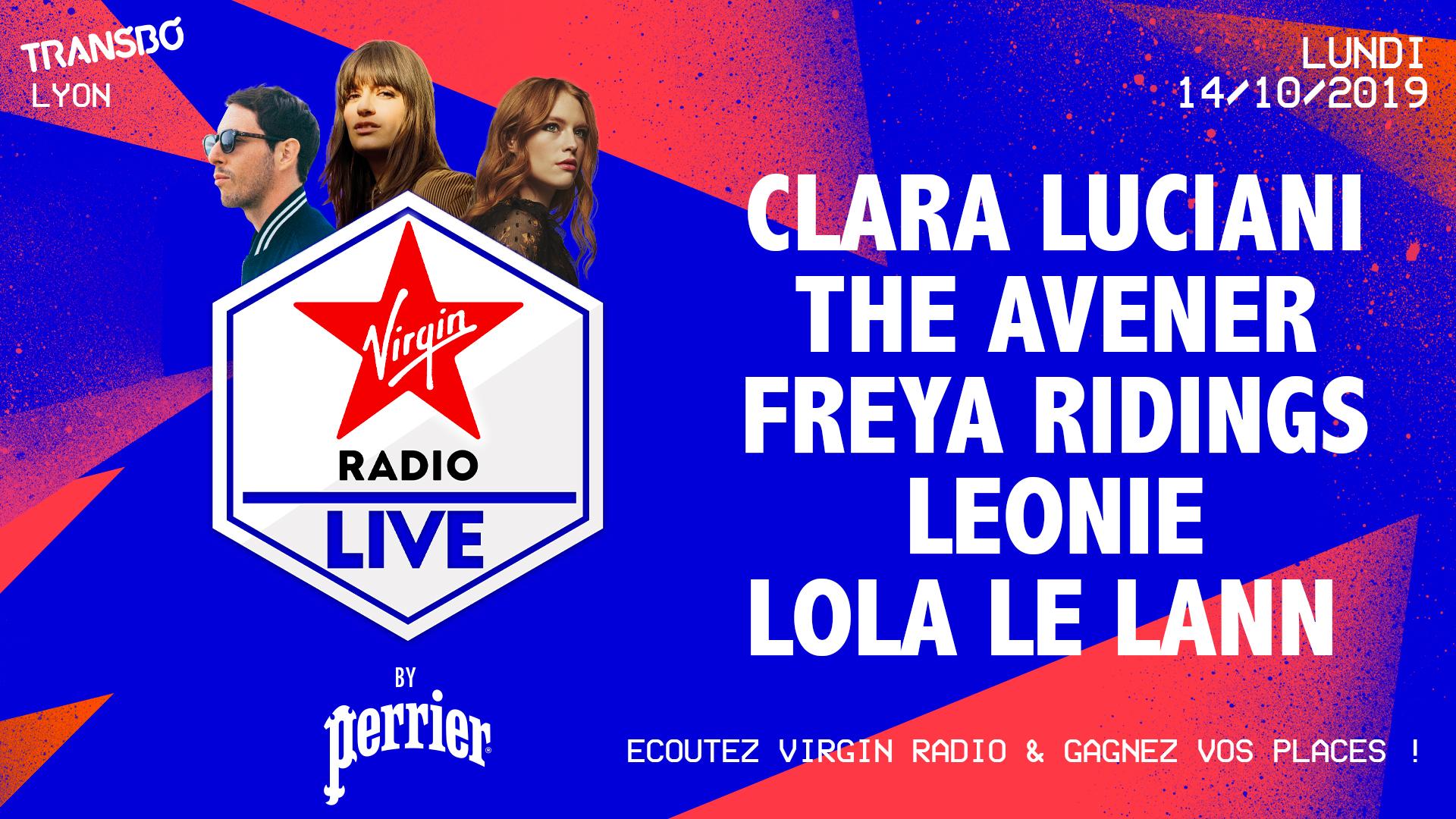 Virgin Radio Live le 14 octobre 2019 au Transbordeur