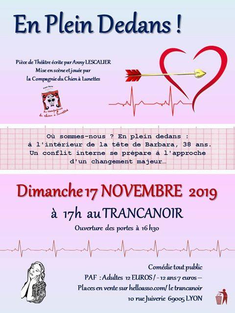En plein dedans ! le 17 novembre au Trancanoir