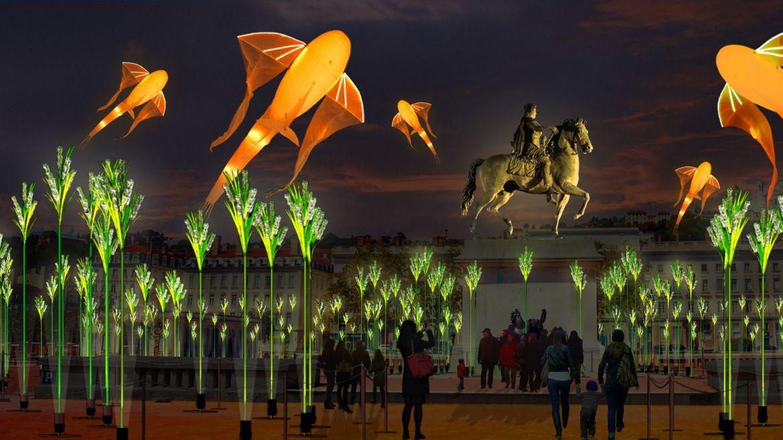Fête des Lumières 2019 : place Bellecour
