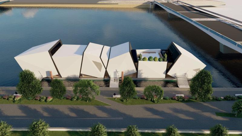 L'île O, théâtre flottant sur le Rhône