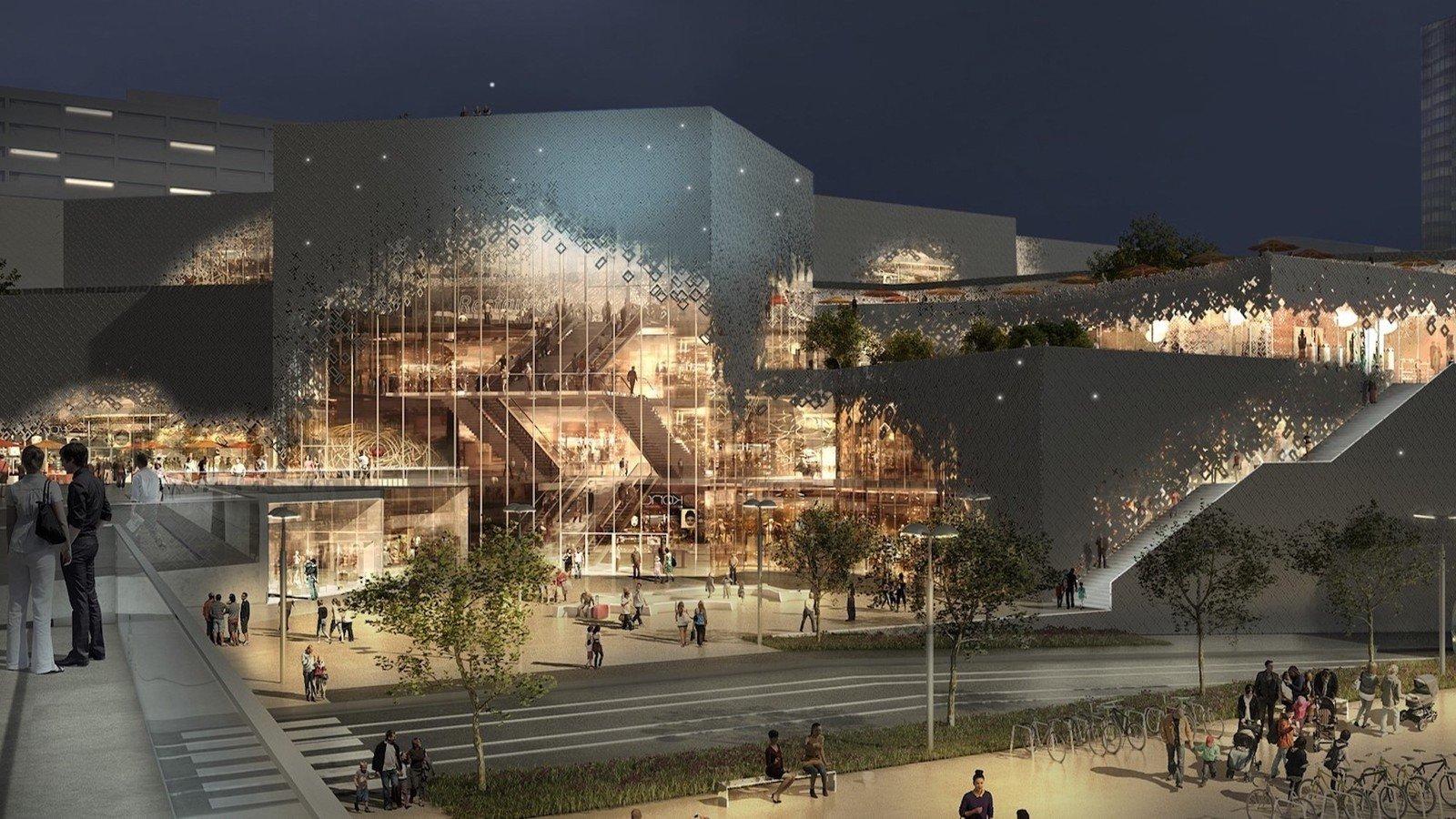 Centre commercial de la Part-Dieu : nouvelle galerie La lanterne