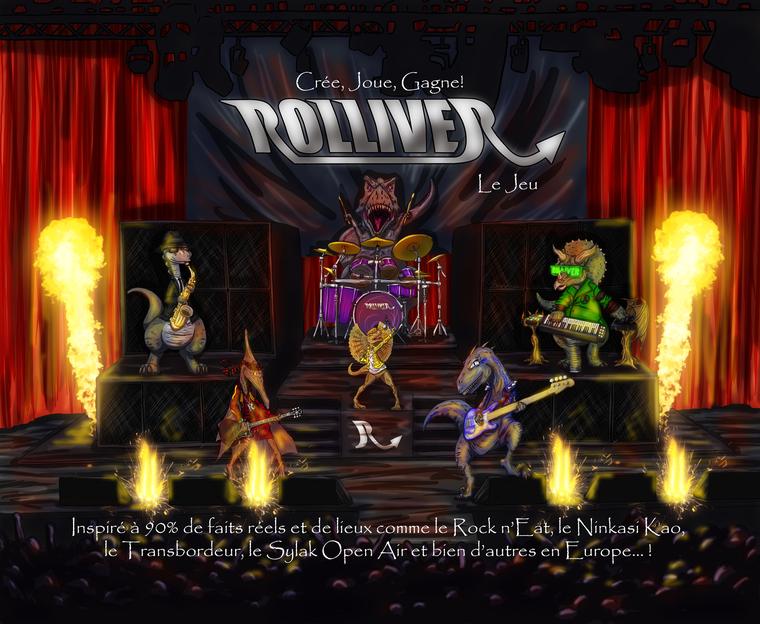 Rolliver, jeu de société dans la peau d'un musicien amateur