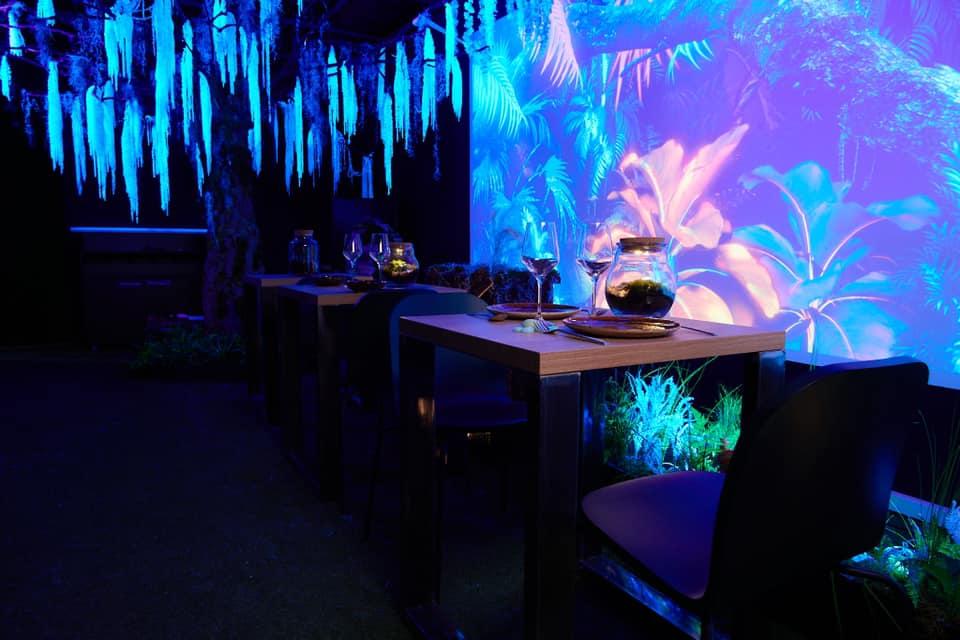 Athera, restaurant éphémère sur le thème Avatar sur le toit de la Part-Dieu