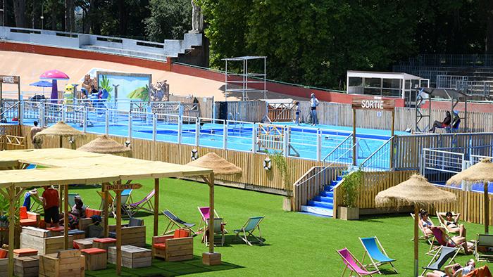 La piscine éphémère du parc de la Tête d'Or de retour à l'été 2021