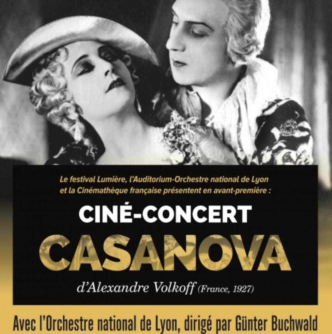 Casanova, le ciné-concert événement du Festival Lumière 2021