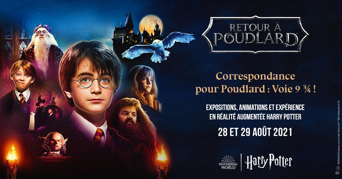 Harry Potter et le Poudlard Express à la gare de Lyon Part-Dieu ce week-end des 28 et 29 août 2021