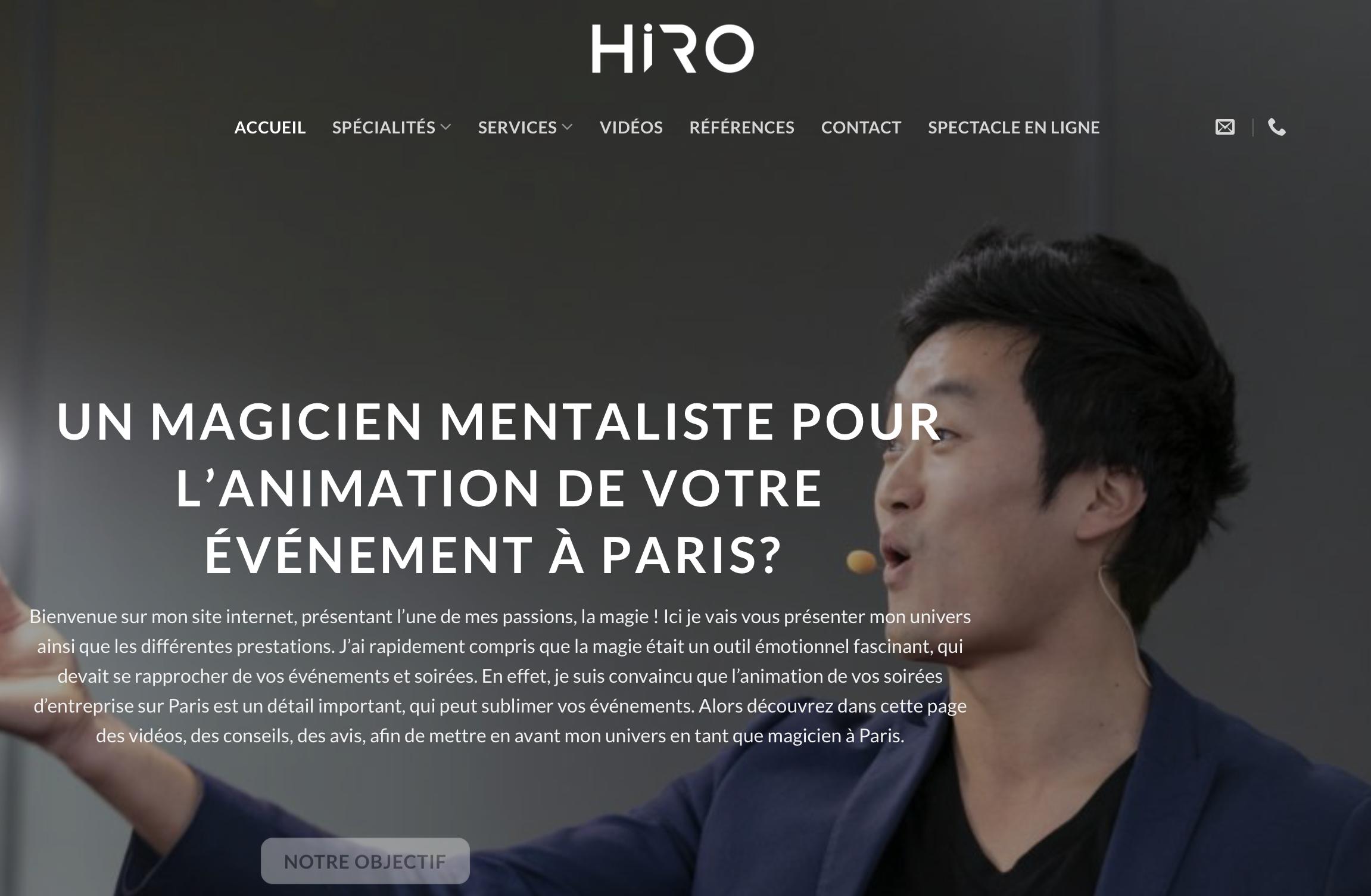 Magicien à Paris : Hiro, animations soirée d'entreprise à Paris